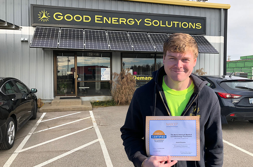 Jacob Grooms NABCEP certification