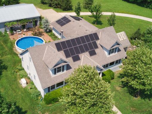 9.72 kW SunPower Residential Solar Installation in Lee's Summit, Missouri