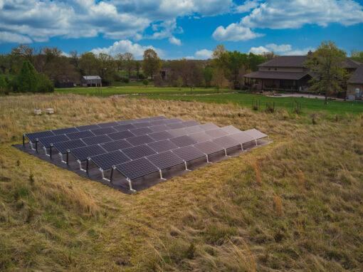 14.388 kW SunPower Residential Ground Mount Solar Installation in Shawnee, Kansas